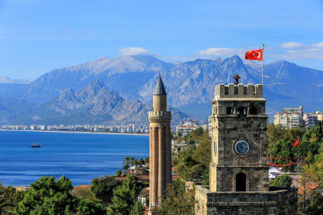 Historische Kaleiçi Grooved Minarett Moschee Tour